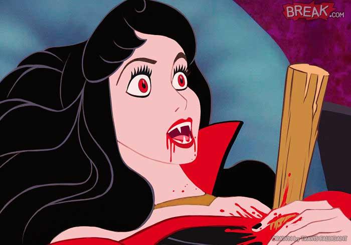 Las princesas Disney Aurora Drácula