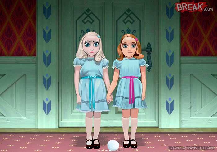 Las princesas Disney anna y elsa el resplandor