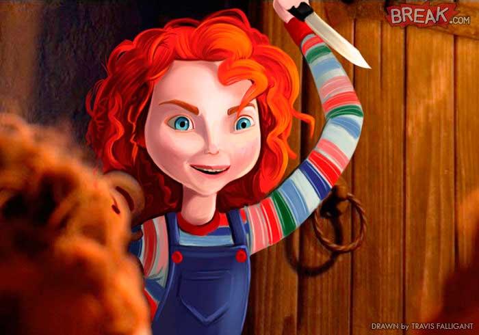 Las princesas Disney Merida Chucky