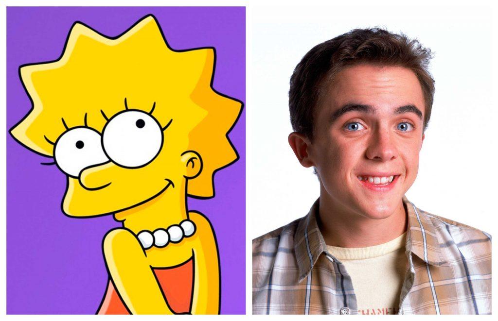Lisa y Malcolm. Comparativa de Los Simpsons con Malcolm el de en Medio