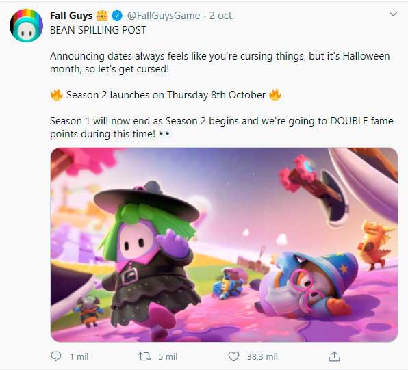 Fall Guys twit