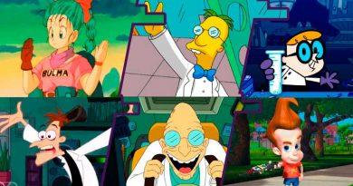 Los científicos más populares de las series de dibujos animados