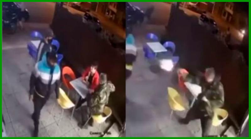 VIDEO VIRAL: Policía frustra un robo y sin soltar su helado
